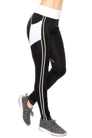 Wholesale White Heart Women's Workout Leggings
