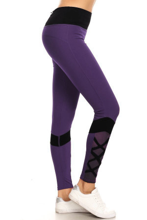Wholesale Sportsplex Ankle Crisscross Workout Leggings
