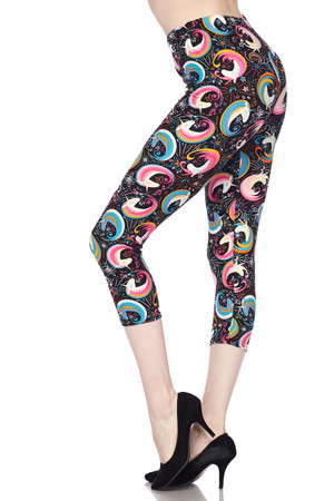 Wholesale Buttery Soft Groovy Hip Unicorn Capris