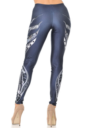 Wholesale Premium Graphic Mechanized Soldier Leggings