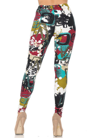 Wholesale Buttery Soft Summer Picasso Leggings