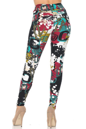 Wholesale Buttery Soft Summer Picasso High Waisted Leggings