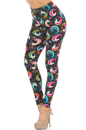Wholesale Buttery Soft Groovy Hip Unicorn Leggings