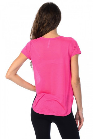 Wholesale Light Weight Short Sleeve Asymmetrical Loose Fit T-Shirt