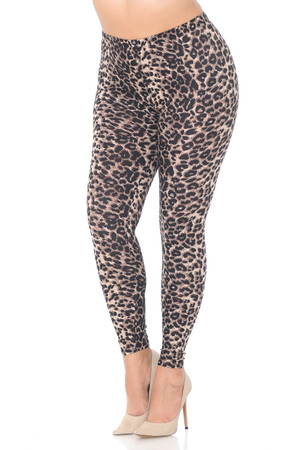 Wholesale Buttery Soft Feral Cheetah Plus Size Leggings
