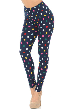 Wholesale Buttery Soft Colorful Polka Dot Leggings