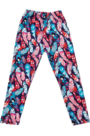 Wholesale Buttery Soft Gorgeous Feathers Kids Leggings