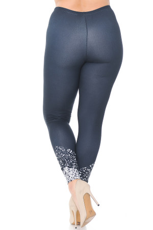 Wholesale Creamy Soft Ebony Escapade Extra Plus Size Leggings - 3X-5X - USA Fashion™