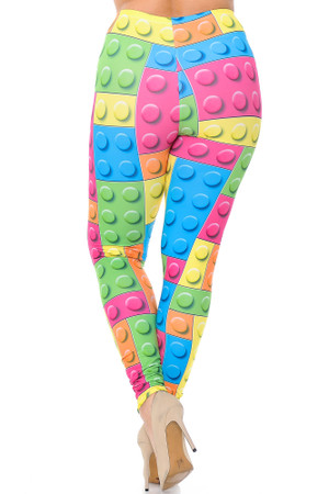 Wholesale Creamy Soft Lego Extra Plus Size Leggings - 3X-5X - USA Fashion™