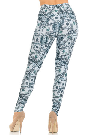 Wholesale Creamy Soft Raining Money Leggings - USA Fashion™