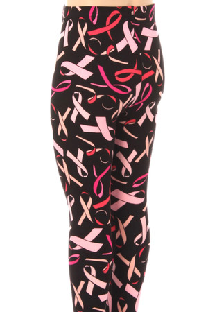 Wholesale Buttery Soft Breast Cancer Awareness Kids Leggings