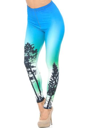 Wholesale Creamy Soft Blue Sunset Leggings - USA Fashion™