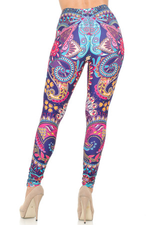 Wholesale Creamy Soft Mandala Flowers Leggings - USA Fashion™