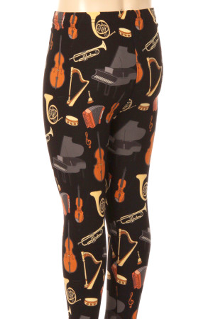 Wholesale Buttery Soft Musical Instrument Kids Leggings