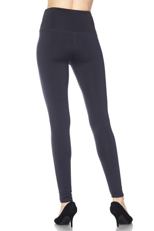 Wholesale High Waisted Fleece Lined Leggings - 5 Inch Waistband