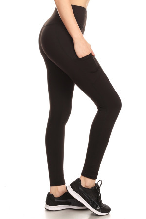 Wholesale Sport Light Fleece Basic Workout Leggings