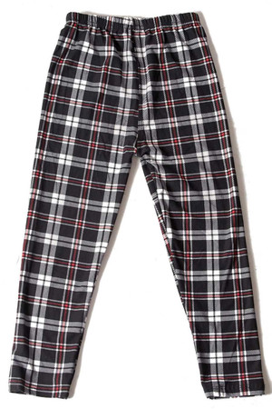 Wholesale Buttery Soft Burgundy Stripes Plaid Kids Leggings