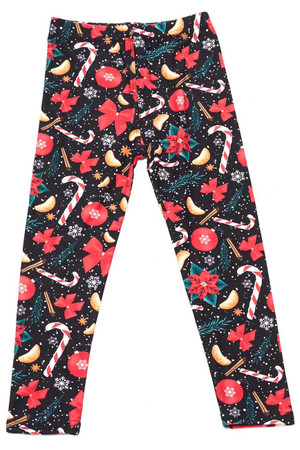 Wholesale Buttery Soft Traditional Country Christmas Kids Leggings