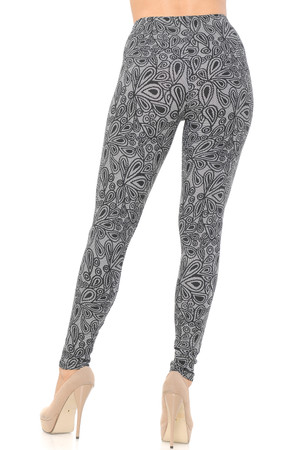 Wholesale Buttery Soft Floral Netted Petal Leggings