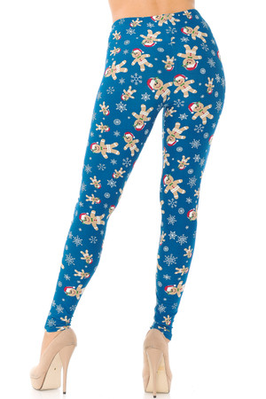 Wholesale Buttery Soft Christmas Cookies and Snowflakes Extra Plus Size Leggings - 3X-5X