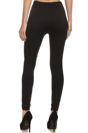 Back image of Wholesale Premium Women's Fleece Lined Leggings