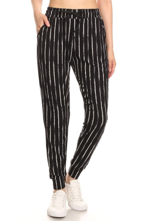 Wholesale Buttery Soft Rustic Pinstripe Joggers