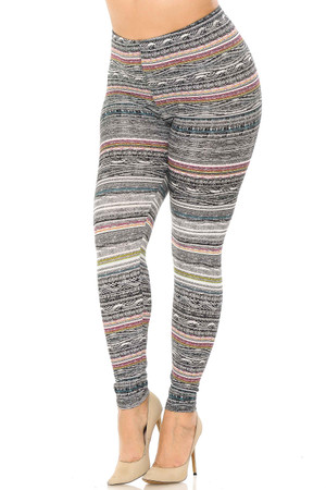 Wholesale Buttery Soft Dainty Pink Wrap Plus Size Leggings