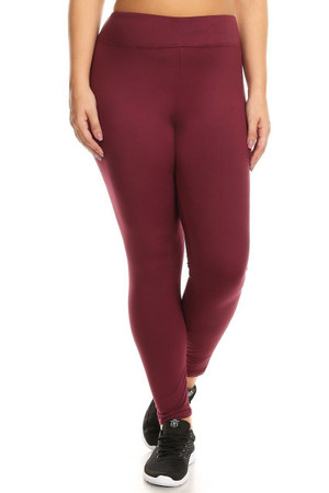 Wholesale High Waisted Fleece Lined Sport Plus Size Leggings