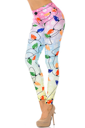 Wholesale Ombre Christmas Lights High Waisted Leggings