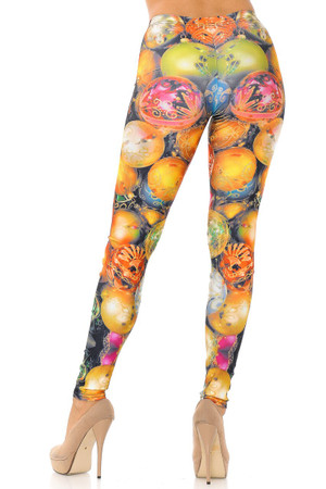 Wholesale Gorgeous Christmas Ornament Plus Size Leggings