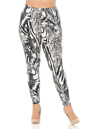 Wholesale Buttery Soft Wild Safari Plus Size Leggings