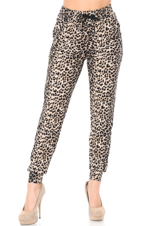 Wholesale Buttery Soft Feral Cheetah Joggers