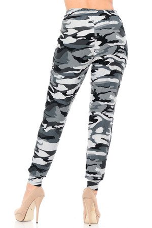 Wholesale Buttery Soft Charcoal Camouflage Joggers