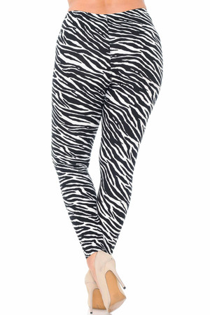 Wholesale Buttery Soft Zebra Plus Size Leggings