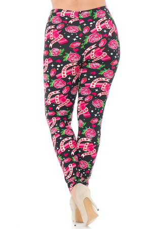 Wholesale Buttery Soft Girl Power Plus Size Leggings