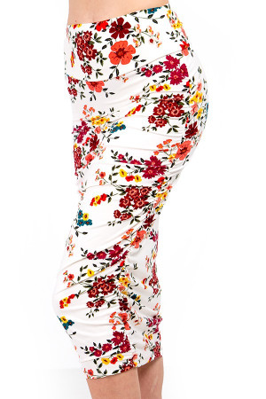 Wholesale Buttery Soft Fresh Spring Floral Skirt