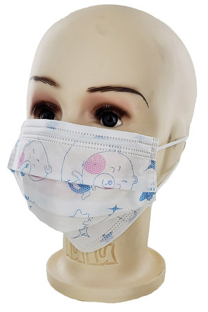 Children's Earloop Surgical Style Face Masks - 12 Pack
