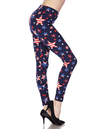 Wholesale Buttery Soft USA Stars Leggings