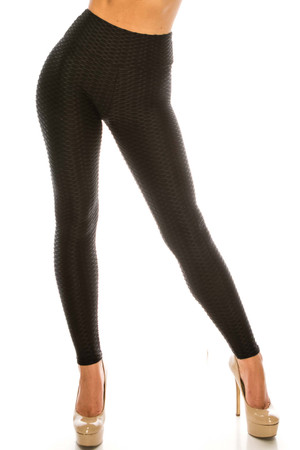 Wholesale Scrunch Butt Textured High Waisted Leggings