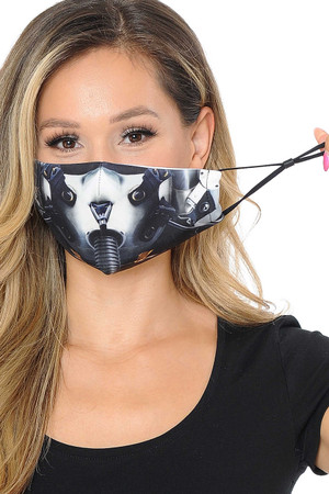 Wholesale Top Gun Fighter Pilot Graphic Print Face Mask