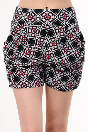 Wholesale Buttery Soft Magnificent Quadratic Angles Harem Shorts