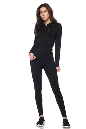 Wholesale Premium Zip Up Hoodie Jacket and Legging Set