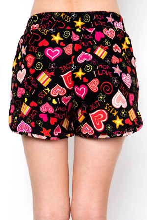 Wholesale Buttery Soft Symbols of Love Dolphin Shorts