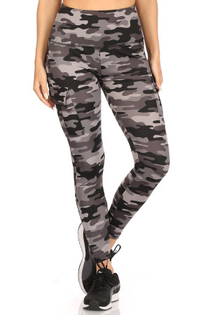 Wholesale Charcoal Camouflage Sport Workout Leggings