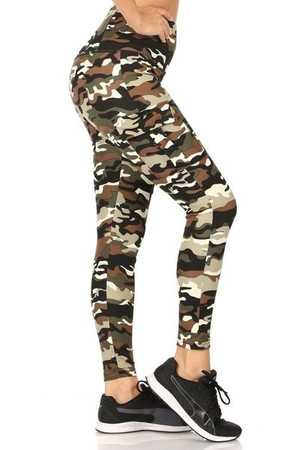 Wholesale Camouflage Sport Leggings with Cargo Pocket