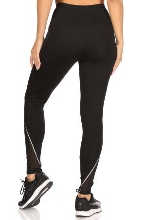 Wholesale Mesh Pocket Reflective High Waist Workout Leggings