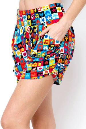 Wholesale Buttery Soft Everything Emoji Harem Shorts