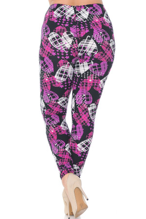 Wholesale Buttery Soft Stars and Plaid Hearts Extra Plus Size Leggings - 3X-5X