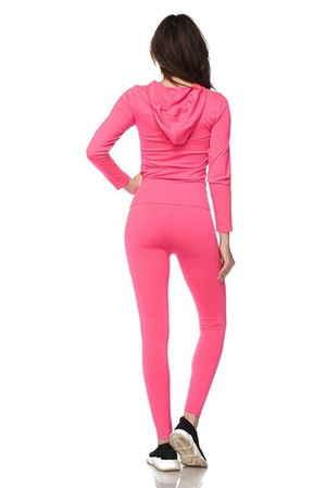 Wholesale Premium Zipper Hoodie Jacket and Legging Set - Plus Size