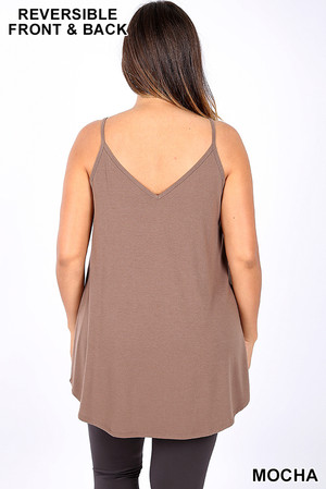 Wholesale Reversible Spaghetti Strap Rayon Plus Size Camisole
